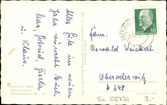 Ak Ebersbach in Sachsen Ebersbach Neugersdorf, Wintermotiv am Schlechteberg, Humboldt Baude 1