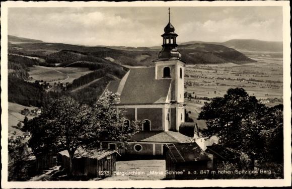 Ak Międzygórze Kłodzko in Niederschlesien, Kirche Maria Schnee im Schneegebirge 0