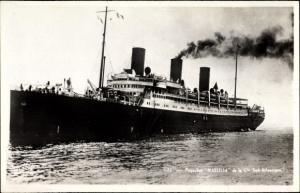 Ak Dampfschiff Massilia, Compagnie de Navigation Sud-Atlantique, Paquebot