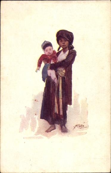 Künstler Ak Tonkin Vietnam, Enfants Tonkinois, Vietnamesische Kinder, Compagnie des Chargeurs Reunis 0