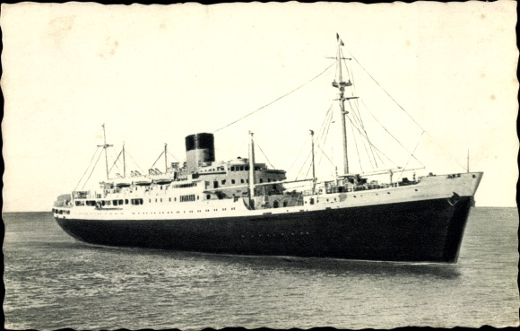 Ak Dampfer Laennec oder Charles Tellier, Cie de Navigation Sud Atlantique 0