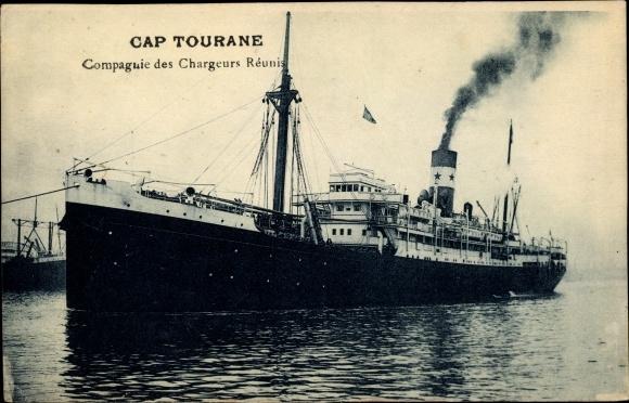 Ak Cap Tourane, Compagnie des Chargeurs Réunis 0