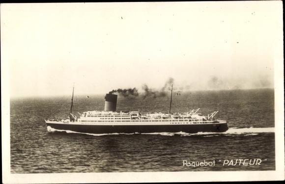 Ak Dampfer Pasteur, Paquebot, Cie de Nav. Sud-Atlantique 0