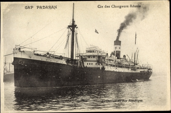 Ak Dampfer Cap Padaran, Chargeurs Réunis 0