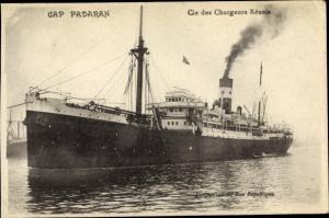 Ak Dampfer Cap Padaran, Chargeurs Réunis