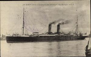 Ak Dampfer La Bretagne, Compagnie de Navigation Sud-Atlantique