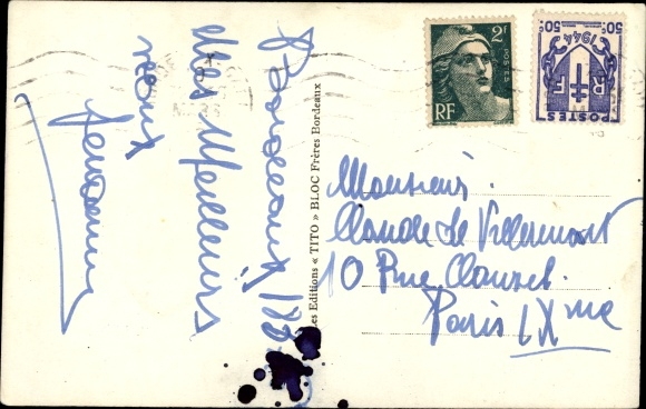 Ak Paquebot Pasteur, Dampfschiff, Compagnie Sud Atlantique 1