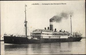 Ak Dampfer Europe, Compagnie des Chargeurs Reunis