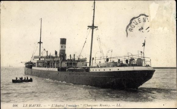 Le Havre Seine Maritime, Dampfer L'Amiral Fourichon, Compagnie des Chargeurs Reunis 0