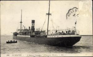 Le Havre Seine Maritime, Dampfer L'Amiral Fourichon, Compagnie des Chargeurs Reunis