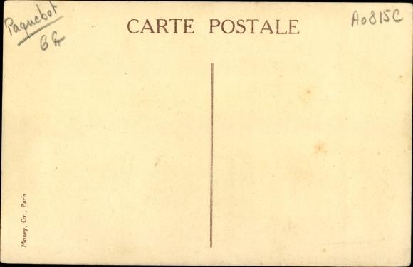 Ak Paquebot Cap Padaran, Compagnie des Chargeurs Reunis, Salle a manger, Dampfer 1