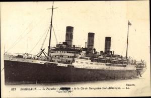 Ak Dampfer Lutetia, Compagnie de Navigation Sud Atlantique