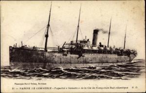 Ak Paquebot Samara, Compagnie de Navigation Sud-Atlantique