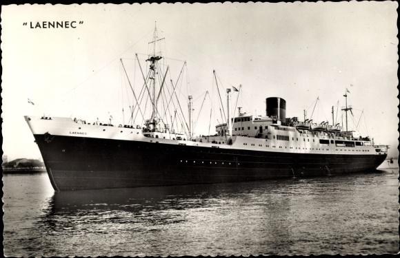 Ak Dampfer Laennec der Compagnie de Navigation Sud Atlantique 0