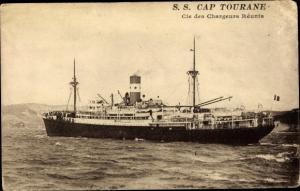 Ak Dampfer SS Cap Tourane, Chargeurs Reunis