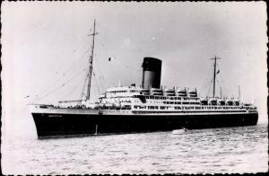 Ak Paquebot Pasteur, Dampfschiff, Compagnie de Navigation Sud-Atlantique