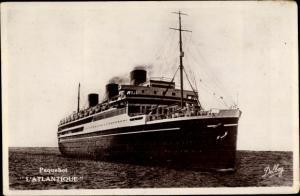Ak Paquebot l'Atlantique, Dampfschiff, Compagnie de Navigation Sud-Atlantique