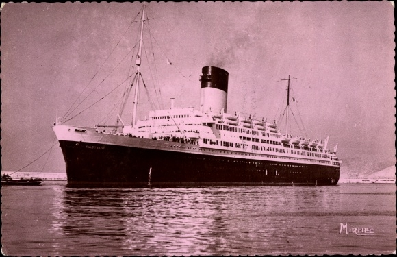 Ak Paquebot Pasteur, Dampfschiff, Compagnie de Navigation Sud-Atlantique 0