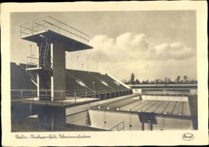 Ak Berlin Charlottenburg Westend, Reichssportfeld, Schwimmstadion