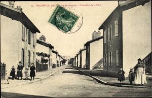 Ak Laroche Migennes Yonne, Une Rue de la Cité