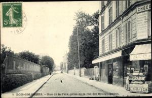 Ak Bois Colombes Hauts de Seine, Rue de la Paix, Rue des Bourguignons