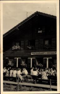 Ak Chatel Saint Denise Kanton Fribourg, Rosaly's Restaurant, Terrasse