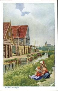 Künstler Ak Vie, Gabriel, Marken Nordholland, Marker woningen