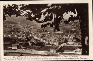 Ak Loyola Gipuzkoa Baskenland, Santuario de Loyola, Vista general de Azpeitia, General view
