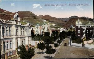 Ak Santa Cruz Teneriffa Kanarische Inseln Spanien, Avenida 25 de Julio