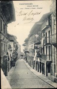 Ak Fuenterrabia Baskenland, Calle Mayor, Straßenpartie