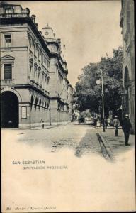 Ak San Sebastian Baskenland, Diputacion Provincial, Kutsche