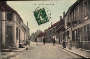 Ak Villeblevin Yonne, Grande Rue