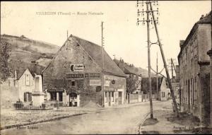 Ak Villecien Yonne, Route Nationale, Epicerie