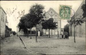 Ak Villeneuve la Guyard Yonne, Les Ecoles