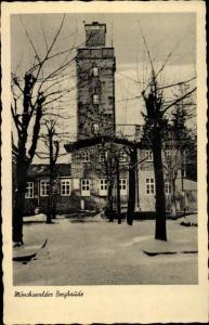 Ak Wilthen im Kreis Bautzen Sachsen, Mönchswalder Bergbaude, Winterpartie