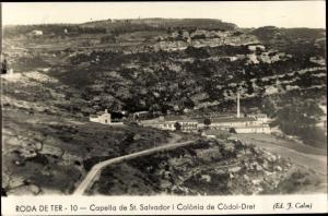 Ak Roda de Ter Katalonien, Capella de St. Salvador i Colonia de Codol Dret