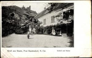 Ak Staatz in Niederösterreich, Schloss und Ruine
