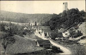 Ak Tautenburg im Saale Holzland Kreis, Himmelreich, Straße nach Bürgel
