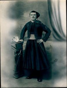 Foto Combalie, Henri, Toulouse, Portraitfotografie, Soldat in den französischen Kolonien