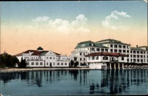Ak Brijuni Brioni Kroatien, Hotel Neptun mit Winterschwimmhalle, Adria
