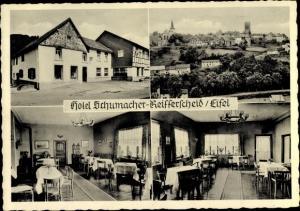 Ak Reifferscheid Hellenthal Euskirchen Nordrhein Westfalen, Hotel schumacher
