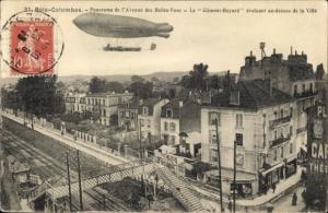 Ak Bois Colombes Hauts de Seine, Avenue des Belles Vues, Zeppelin Clememt Bayard