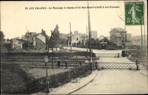 Ak Les Vallées Hauts de Seine, Passage a niveau, Rue Henri Litolff