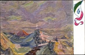 Künstler Ak Argentieri, A., Nei paesi della guerra, Sulle Alpi
