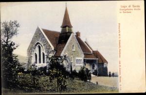 Ak Gardone Lombardia, Evengelische Kirche