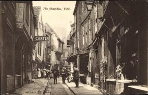 Ak York Yorkshire England, The Shambles