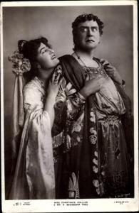Ak Schauspieler Constance Collier und H. Beerbohm Tree