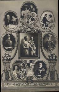 Ak Deutschlands Kaiserhaus unter Wilhelm II., 25 jähriges Regierungsjubiläum