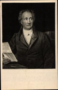 Künstler Ak Stieler, J., Schriftsteller Johann Wolfgang von Goethe