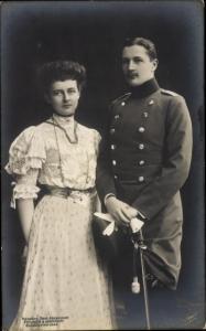 Ak Eitel Friedrich Prinz von Preussen, Sophie Charlotte von Oldenburg